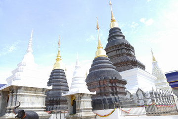 architecture of buddhist pagoda in Thailand
