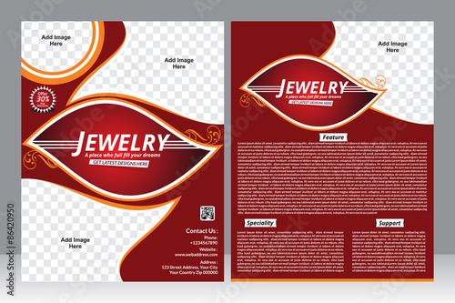 "Jewellery Flyer Template"" Stock Image And Royalty-Free Vector"