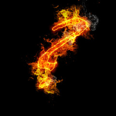 Fire the question mark