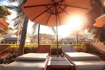 hotel lounges palm landscape
