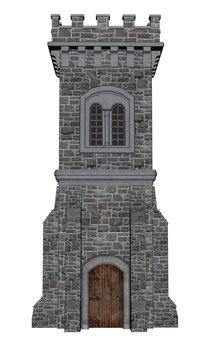 Square castle tower - 3D render