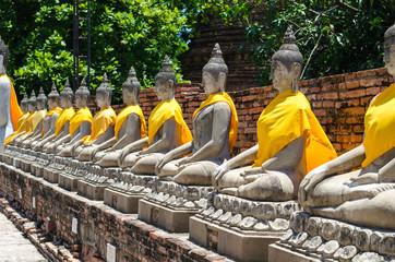 Ancient Buddha in Wat Yaichaimongkol