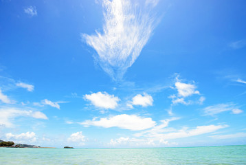 Sunny nice clouds, Okinawa, Japan