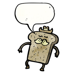 toast cartoon character