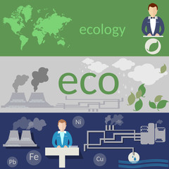 Ecology,world pollution, Environmental Conference, waste of fact