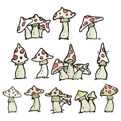 cartoon toadstools collection