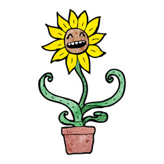 sunflower cartoon character