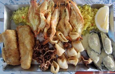 Кипр, свежие морепродукты