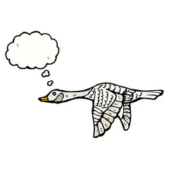 cartoon flying goose