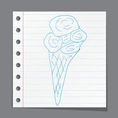 sketch illustration - ice cream cone