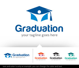Graduation Logo Design Template