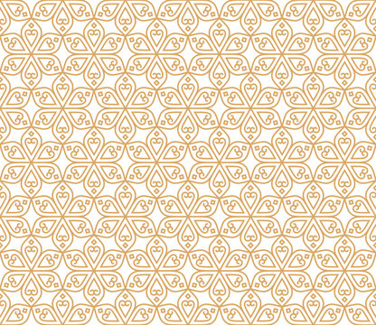 Indian Seamless Abstract Pattern Traditional Vintage Flowers