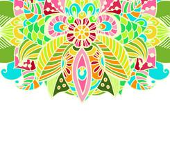 Stylish floral background, hand drawn doodle floral element