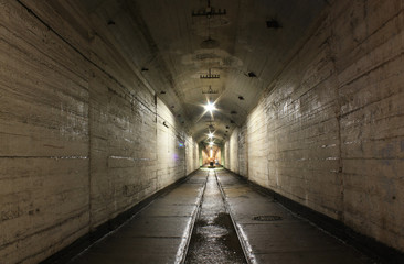 Underground tunnel on the former military base