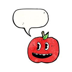 talking apple cartoon