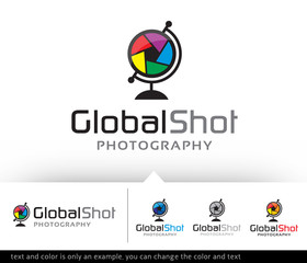 Global Shot Logo Design Template