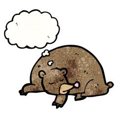 cartoon sleeping bear