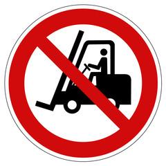 Verbotszeichen Flurförderzeuge verboten nach ASR 1.3 P012