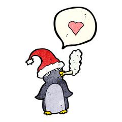 cartoon penguin smoking cigarette