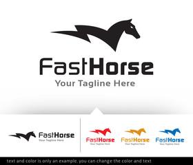 Fast Horse Logo Design Template