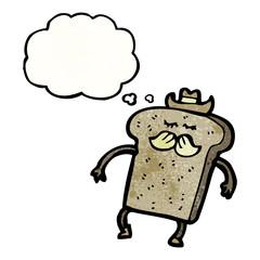 toast cartoon character