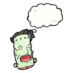 frankenstein head cartoon