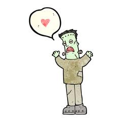 cartoon frankenstein's monster in love