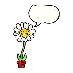 cartoon talking flower