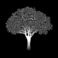 Stylized silver tree