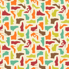 Seamless shoe pattern