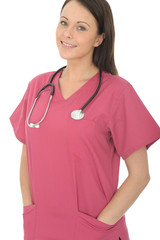 Portrait Of A Beautiful Young Female Doctor With Her Hands In Pockets