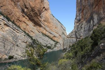 Vistas del Congost de Montrebei. Lérida. Catalunya. España
