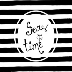 Sea time vector illustration