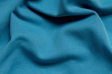 Blue full frame wrinkled polyester fabric