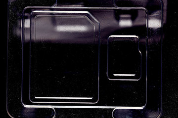plastic blister pack electronic storage chip background