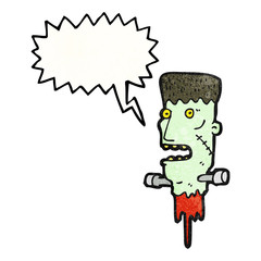 frankensteins monster head cartoon