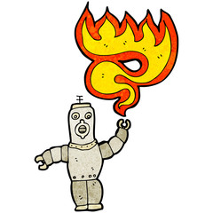 cartoon robot shooting fire
