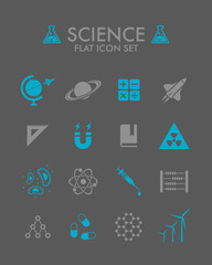Vector Flat Icon Set - Science