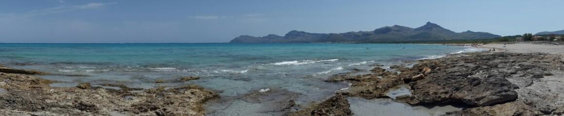 Playa de serra de la marina en mallorca