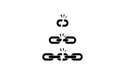 Broken Chain Connection Vector