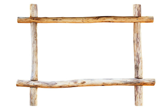 The frame made from oak logs