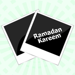 Ramadan kareem on old photo frame