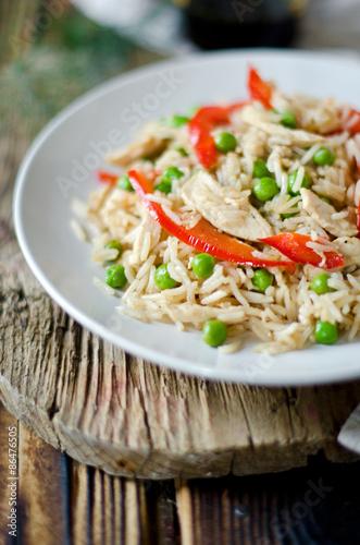 рис с курицей пошаговый рецепт фото