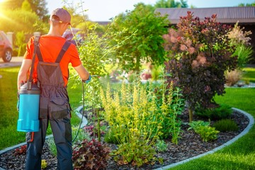 Gardener with Pests Spray Wall mural