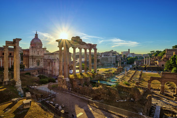 Printed roller blinds Central Europe Sunrise at Roman Forum - Rome - Italy