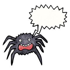 cartoon scared spider