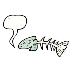fish bones cartoon