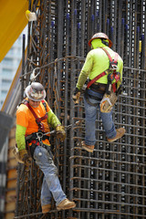 Men working at a construction site