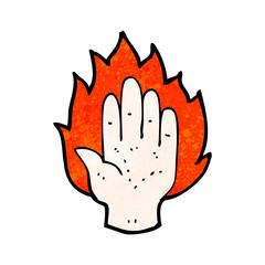 cartoon hand symbol