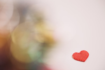 Heart with bokeh light Vintage background